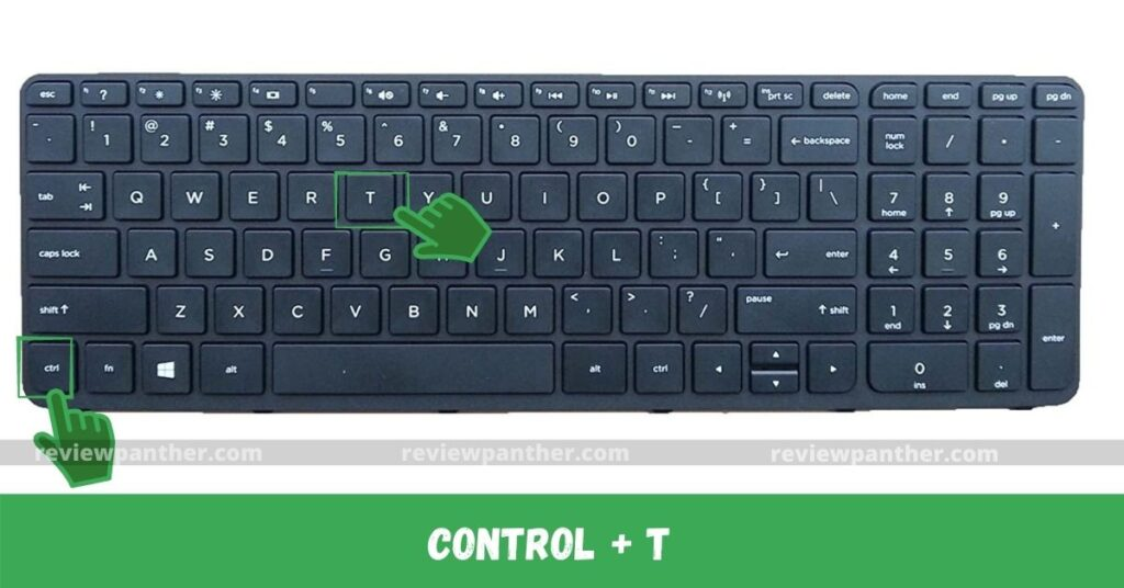 Browser new tab opening key combination
